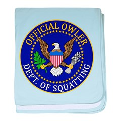 Official Owling Dept Seal baby blanket