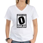 Content Rated Owler Women's V-Neck T-Shirt
