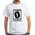Content Rated Owler White T-Shirt