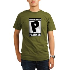 Content Rated Planker Organic Men's T-Shirt (dark)