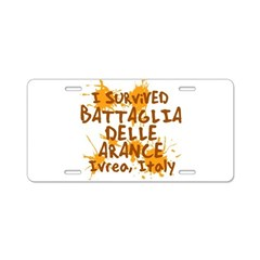 Ivrea Battle Of The Oranges Souvenirs Gifts Tees Aluminum License Plate