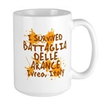 Ivrea Battle Of The Oranges Souvenirs Gifts Tees Large Mug
