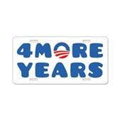 4 More Years Aluminum License Plate