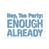 Hey, Tea Party Mini Poster Print