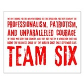 Team Six Quote Small Poster