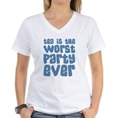 Worst Party Ever Women's V-Neck T-Shirt