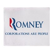 Anti-Romney Corporations Stadium Blanket