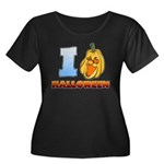 I Love Halloween Women's Plus Size Scoop Neck Dark T-Shirt