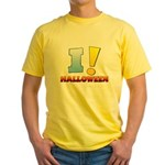 I ! Halloween Yellow T-Shirt