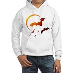 Flying Vampire Bats Hooded Sweatshirt