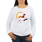 Flying Vampire Bats Women's Long Sleeve T-Shirt