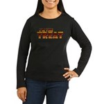 Glowing I'm the Treat Women's Long Sleeve Dark T-Shirt
