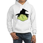 Happy Green Witch Hooded Sweatshirt