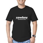 generic cowboy costume Men's Fitted T-Shirt (dark)