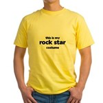 this is my rock star costume Yellow T-Shirt