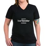 this is my bartender costume Women's V-Neck Dark T-Shirt