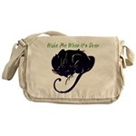 Wake Me When It's Over Canvas Messenger Bag