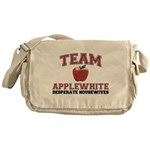 Team Applewhite Canvas Messenger Bag