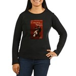 Distressed Retro DWTS Poster Women's Long Sleeve Dark T-Shirt