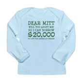 Mitt Will You Adopt Me? Long Sleeve Infant T-Shirt