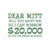 Mitt Will You Adopt Me? 38.5 x 24.5 Wall Peel