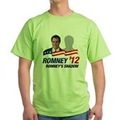 Anti-Romney Shadow Green T-Shirt