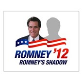 Anti-Romney Shadow Small Poster