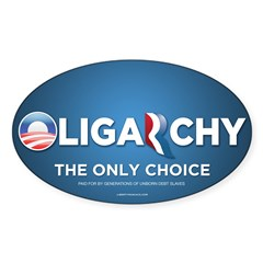Oligarchy 2012 Sticker (Oval)