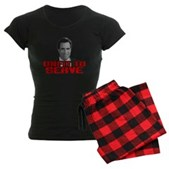 Anti-Romney: Unfit To Serve Women's Dark Pajamas