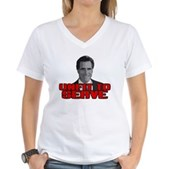 Anti-Romney: Unfit To Serve Women's V-Neck T-Shirt