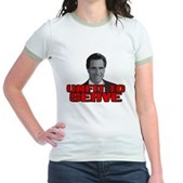 Anti-Romney: Unfit To Serve Jr. Ringer T-Shirt