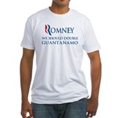 Anti-Romney: Guantanamo Fitted T-Shirt