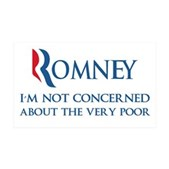 Anti-Romney: Very Poor 35x21 Wall Decal