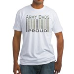 Military Army Dads Proud Fitted T-Shirt