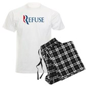 Anti-Romney Refuse Men's Light Pajamas
