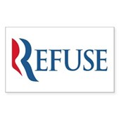 Anti-Romney Refuse Sticker (Rectangle)