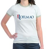 Anti-Romney ROFLMAO Jr. Ringer T-Shirt