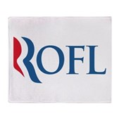 Anti-Romney ROFL Stadium Blanket