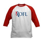 Anti-Romney ROFL Kids Baseball Jersey