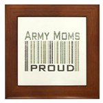 Military Army Moms Proud Framed Tile