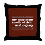 Mahogany Throw Pillow