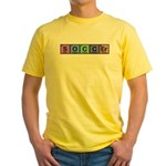 Soccer made of Elements Colors Yellow T-Shirt