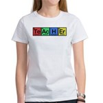 Teacher made of Elements colors Women's T-Shirt