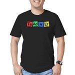 Teacher made of Elements whimsy Men's Fitted T-Shirt (dark)