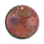 Neolithic Mandala Round Ornament