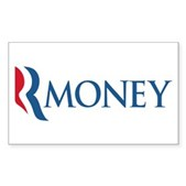 Anti-Romney RMONEY Sticker (Rectangle)