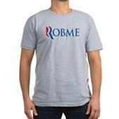 Anti-Romney Robme Men's Fitted T-Shirt (dark)