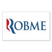 Anti-Romney Robme Sticker (Rectangle)