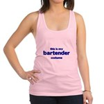 this is my bartender costume Racerback Tank Top