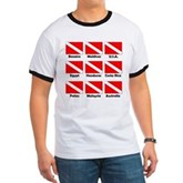 Dive Flags of the World Ringer T